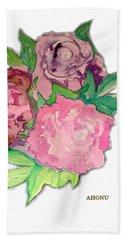 Peonie Roses Beach Towel