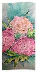 Peonie Roses Beach Sheet