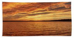 Beach Towel featuring the photograph Percy Priest Lake Sunset by D K Wall