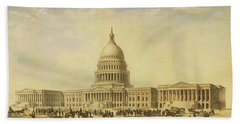 Perspective Rendering Of United States Capitol Beach Towel