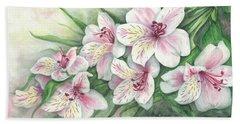 Peruvian Lilies Beach Sheet