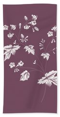 Phacelia Purple Flower Beach Towel