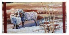 Phil And Alice Navajo Sheep    38 Beach Towel
