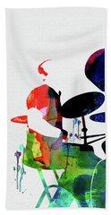 Phil Collins Watercolor Beach Towel