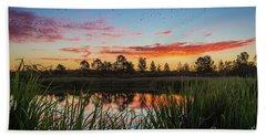 Phinizy Swamp Sunrise - Augusta Ga Beach Towel