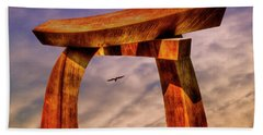 Beach Towel featuring the photograph Pi In The Sky by Paul Wear