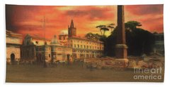 Piazza Del Popolo Rome Beach Sheet