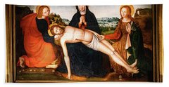 Pieta Des Penitents Blancs Francois Brea Beach Towel