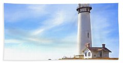 Pigeon Point Lighthouse Ca Beach Towel