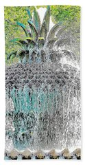 Pineapple Fountain Beach Towel