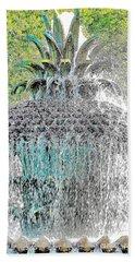 Pineapple Fountain Beach Sheet