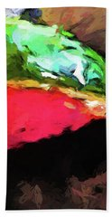 Pink And Green Watermelon Beach Towel