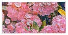 Pink Bougainvillea Beach Sheet
