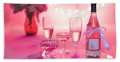 Beach Towel featuring the photograph Pink Champagne by Top Wallpapers