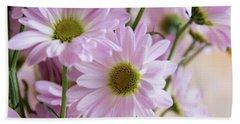 Pink Daisies-1 Beach Sheet