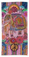 Pink Elephant Beach Towel