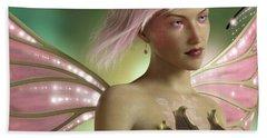 Pink Fairy Beach Towel