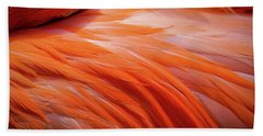 Pink Feathers Beach Sheet