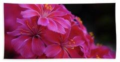Pink Floral Beach Sheet