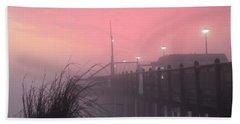 Pink Fog At Dawn Beach Sheet