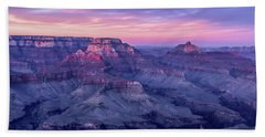 Pink Hues Over The Grand Canyon Beach Towel