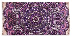Pink Mandala Beach Towel