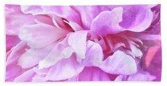 Pink Petals Beach Sheet