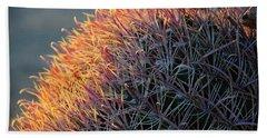 Pink Prickly Cactus Beach Towel