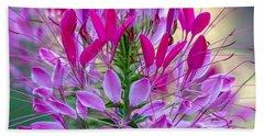 Pink Queen Flower Beach Towel
