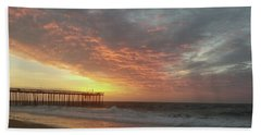 Pink Rippling Clouds At Sunrise Beach Towel