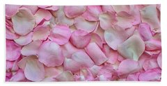 Pink Rose Petals Beach Sheet