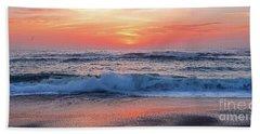 Pink Sunrise Panorama Beach Sheet