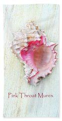 Pink Throat Murex II Beach Sheet