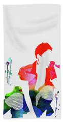 Pink Watercolor Beach Towel