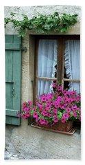 Pink Window Box Beach Towel