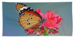 Plain Tiger Or African Monarch Butterfly Dthn0246 Beach Sheet