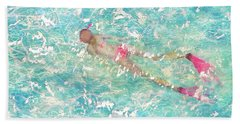 Beach Towel featuring the painting Playful by Eva Konya