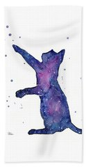 Playful Galactic Cat Beach Towel