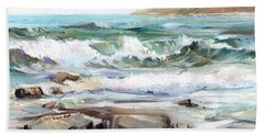 Overlooking Plymouth Beach Beach Towel
