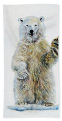 Polar Bear Baby Beach Towel