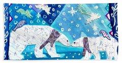 Polar Bears Beach Sheet