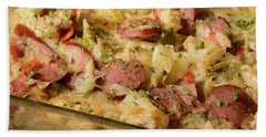 Polish Kielbasa Cuisine Beach Towel