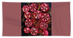 Pomegranate New Year Beach Sheet