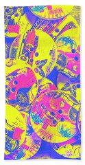 Pop Art Garage  Beach Towel