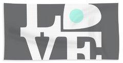 Pop Art Love In Gray Beach Towel