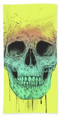 Pop Art Skull Beach Towel