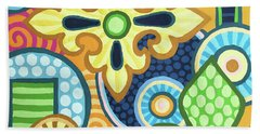 Pop Botanical 1 Beach Towel