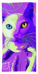 pOp Cat Cotton Beach Sheet