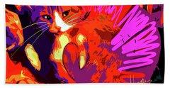 Pop Cat Tiger Beach Sheet