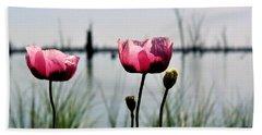 Poppies On Lake Mulwala 2 Beach Towel